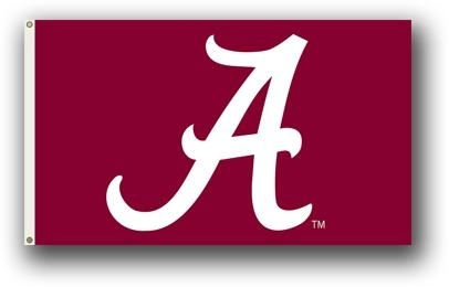 "Ncaa College Alabama Southern Eagles Metal Sign - 95202 - Alabama ""a"" Only 3 X 5 Flag 95202"
