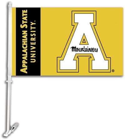 Appalachian St Car Flag - 97076 - Ncaa College Appalachian State Asu Mountaineers Car Flags 97076