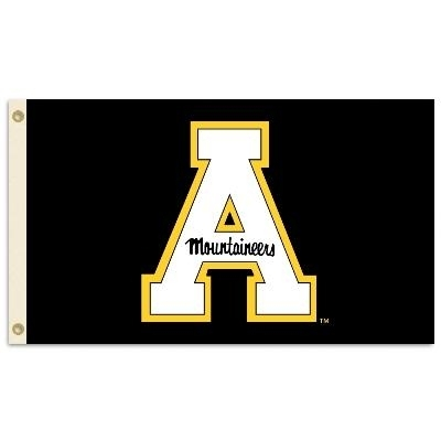 Appalachian State Block A Black 3x5 Flag - 95276 - Ncaa College Appalachian State Asu Mountaineers 3x5 Flags 95276