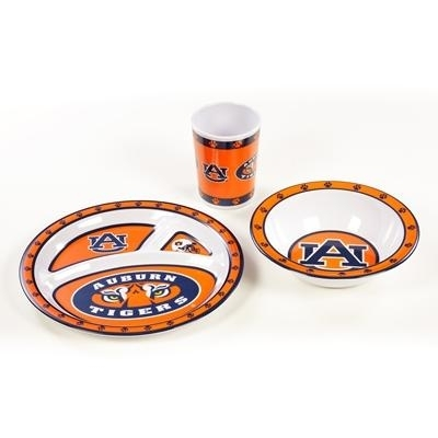 Auburn Kid's Dish Set - 31145 - Ncaa College Auburn Aub Tigers Kids Dish Sets 31145