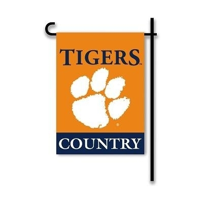 """Clemson """"country"""" Two Sided Garden Flag - 83225 - Ncaa College Clemson Clem Tigers 2sided Garden Flags 83225"""