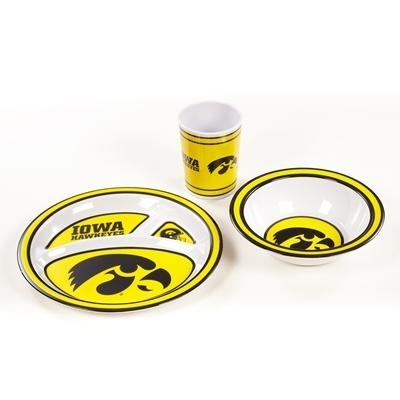 Ncaa College Iowa Iowa Hawkeyes Kids Dish Sets - 31124 - Iowa Kid's Dish Set 31124