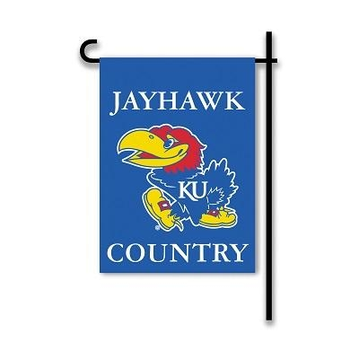 "Ncaa College Kansas Kan Jayhawks 2sided Garden Flags - 83214 - Kansas ""jayhawk Country"" Garden Flag Two Sided 83214"
