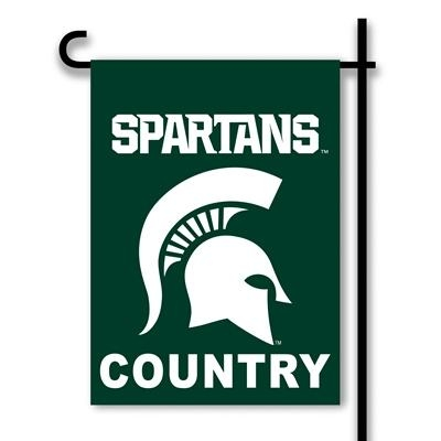 "Ncaa College Michigan State Msu Spartans 2sided Garden Flags - 83229 - Michigan St ""spartans Country"" Garden Flag 2 Sided 83229"