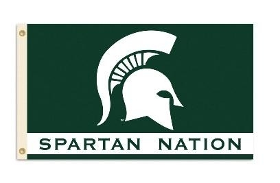 Ncaa College Michigan State Msu Spartans Metal Sign - 95229 - Michigan State Spartan Nation 3 X 5 Flag 95229
