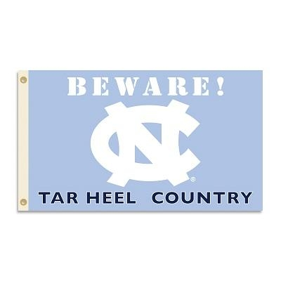 Ncaa College North Carolina Unc Tar Heels 3x5 Flags - 35708 - North Carolina Beware Tar Heel Country 3x5 Flag 35708