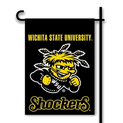 Wichita State Shockers Two Sided Garden Flag - 83090 - Ncaa College Wichita State Wsu Shockers 2sided Garden Flags 83090