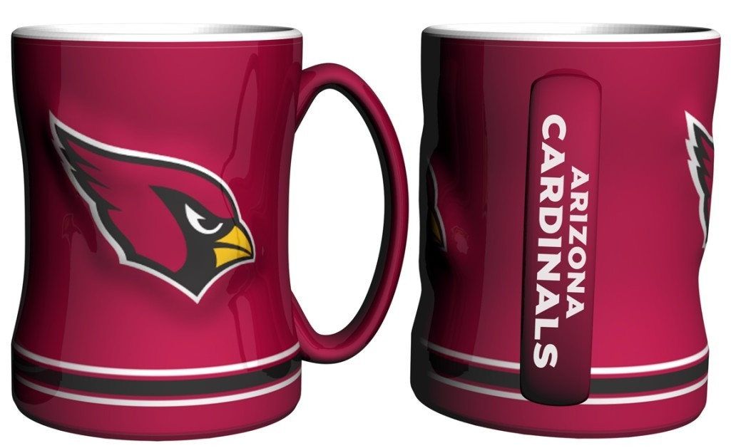 Arizona Cardinals Coffee Mug-14oz Sculpted Relief - 4675710525 - Nfl Football Arizona Cardinals Coffee Mugs 4675710525