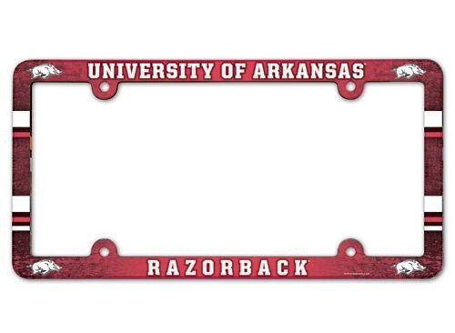Ncaa College Arkansas Ark Razorbacks License Plates Frames - 3208595340 - Arkansas Razorbacks License Plate Frame-full Color 3208595340