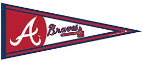 Atlanta  Pennant - 3208563791 - Mlb Baseball Atlanta  Pennants 3208563791