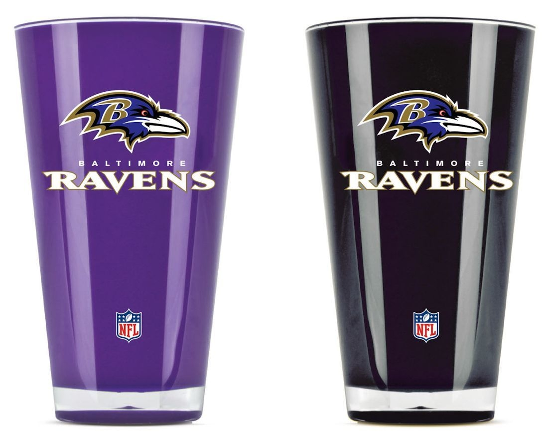 Nfl Football Baltimore Ravens Tumblers And Pint Glasses - 9413101626 - Baltimore Ravens Tumblers-set Of 2 (20 Oz) 9413101626