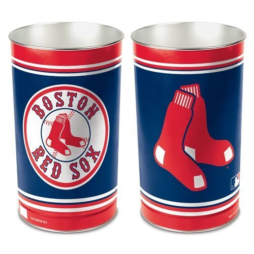 "Boston Red Sox 15"" Waste Basket - 1094381032 - Mlb Baseball Boston Red Sox Bath 1094381032"