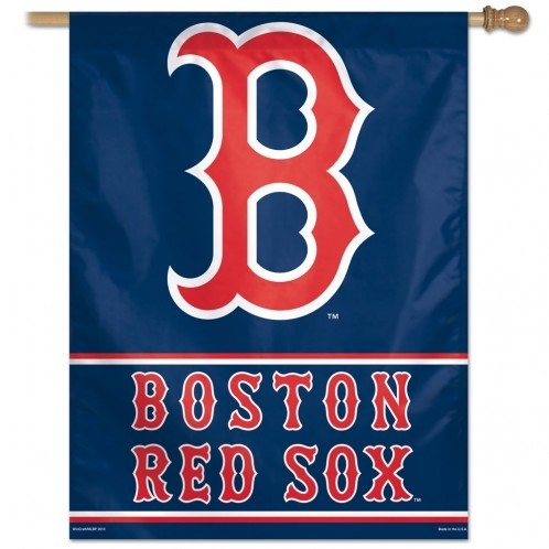 Mlb Baseball Boston Red Sox Banners - 3208579714 - Boston Red Sox Banner 28x40 Vertical Logo Design 3208579714