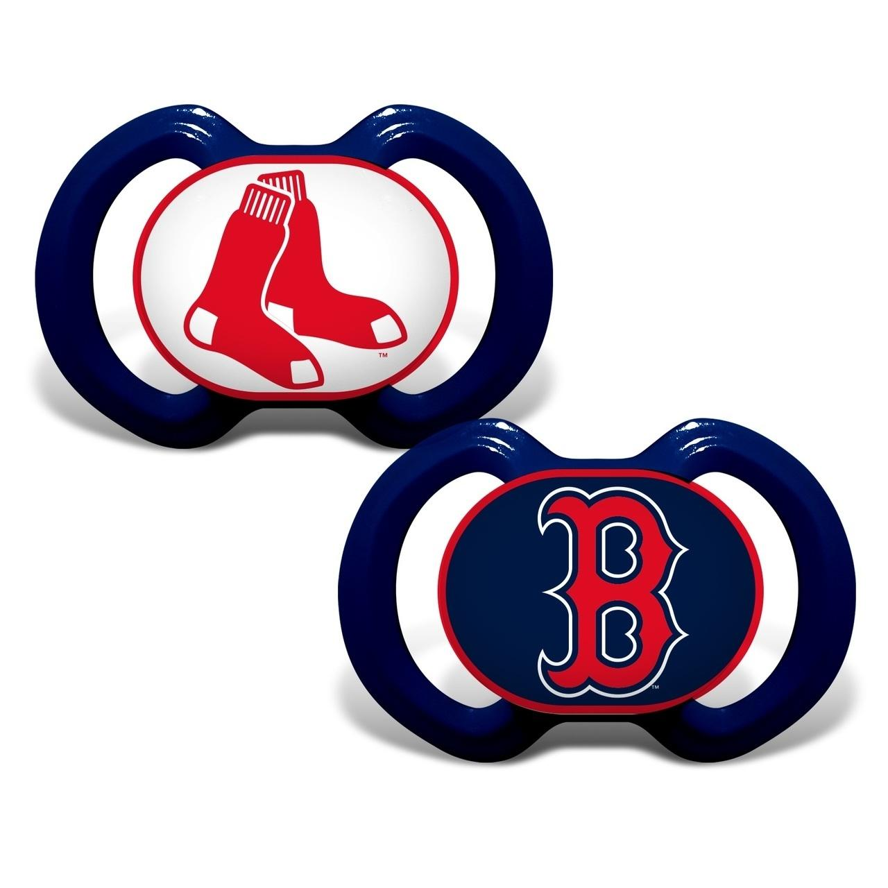 Mlb Baseball Boston Red Sox Baby Fan Gear - 1740702249 - Boston Red Sox Pacifier 2 Pack 1740702249