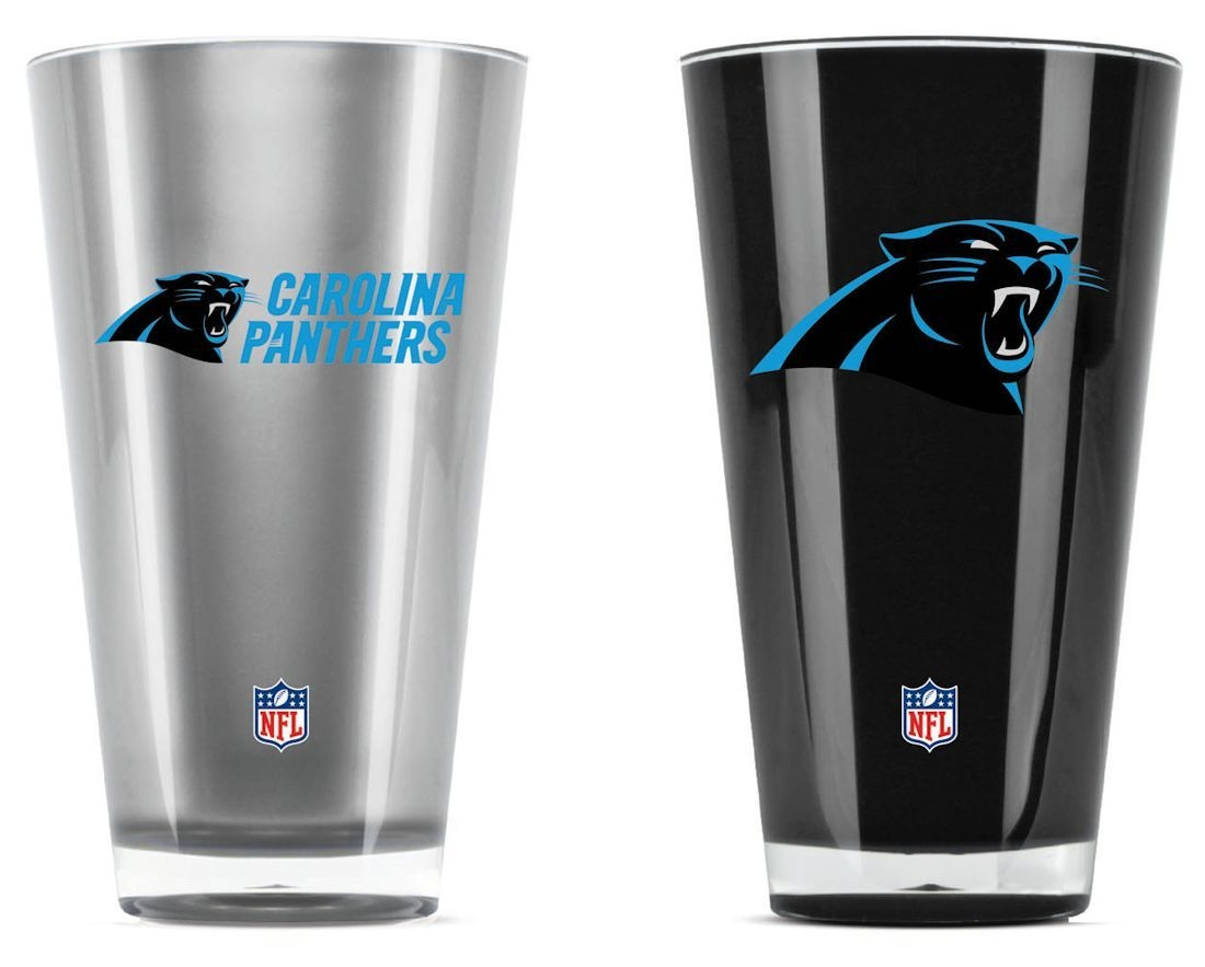 Nfl Football Carolina Panthers Tumblers And Pint Glasses - 9413101628 - Carolina Panthers Tumblers-set Of 2 (20 Oz) 9413101628