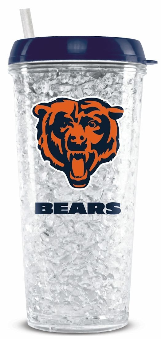 Nfl Football Chicago Bears Tumblers And Pint Glasses - 9413102262 - Chicago Bears Crystal Freezer Tumbler 9413102262