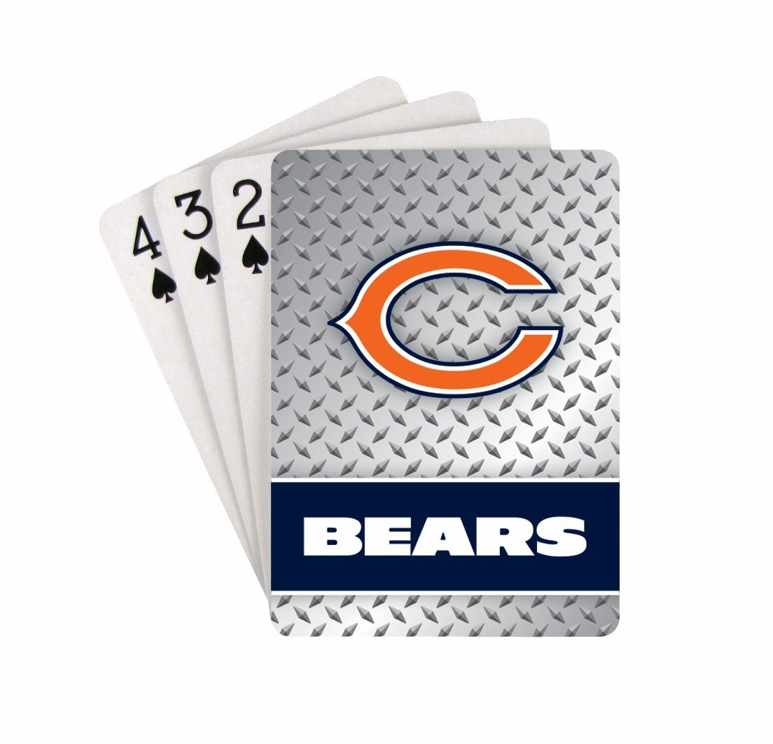 Chicago Bears Playing Cards-diamond Plate - 5717533243 - Nfl Football Chicago Bears Toys Games Puzzles Games 5717533243