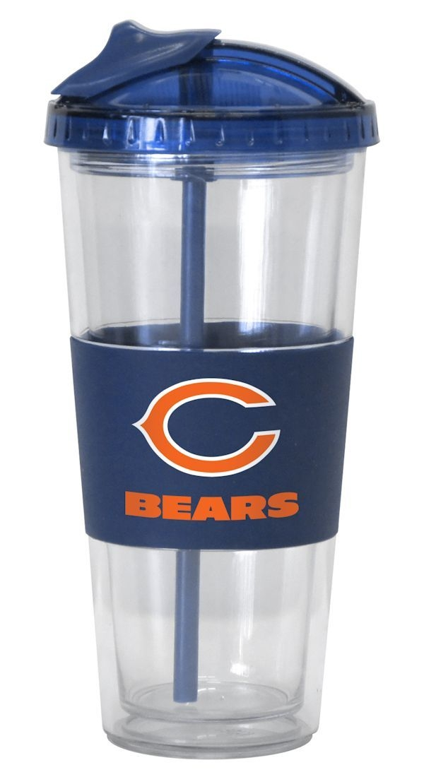 Chicago Bears No Spill Straw Tumbler - 4675720115 - Nfl Football Chicago Bears Tumblers And Pint Glasses 4675720115