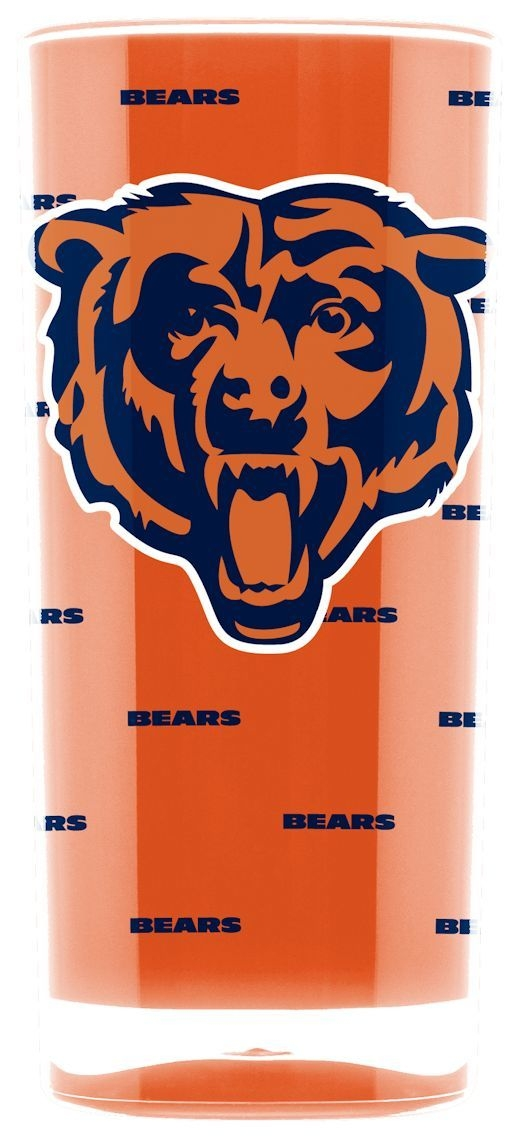 Nfl Football Chicago Bears Tumblers And Pint Glasses - 9413102986 - Chicago Bears Tumbler-square Insulated (16oz) 9413102986