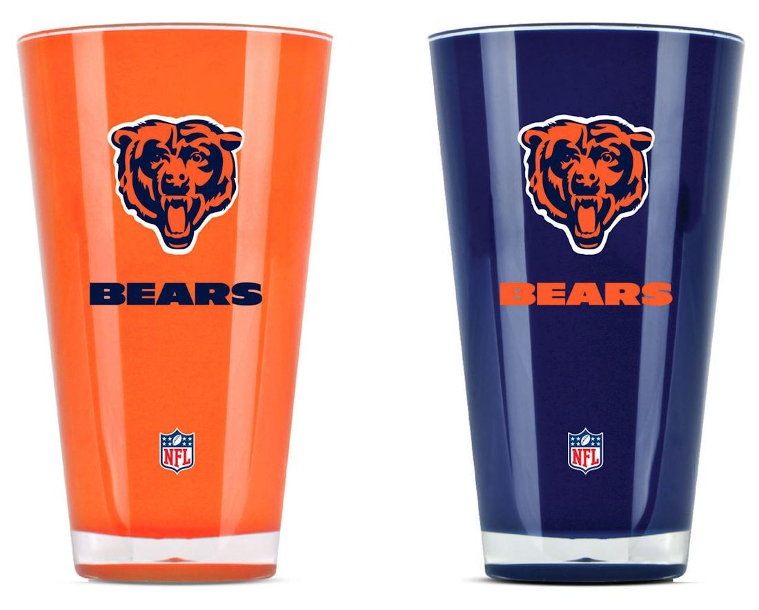 Nfl Football Chicago Bears Tumblers And Pint Glasses - 9413101629 - Chicago Bears Tumblers-set Of 2 (20 Oz) 9413101629
