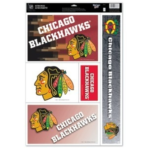 Nhl Hockey Chicago Blackhawks Decals - 3208588345 - Chicago Blackhawks Decal 11x17 Ultra 3208588345