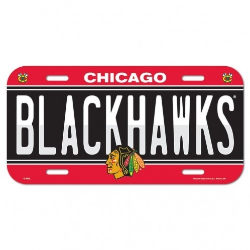 Nhl Hockey Chicago Blackhawks License Plates Frames - 3208585236 - Chicago Blackhawks License Plate 3208585236