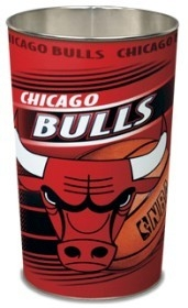 "Nba Basketball Chicago Bulls Bath - 1094380064 - Chicago Bulls 15"" Waste Basket 1094380064"