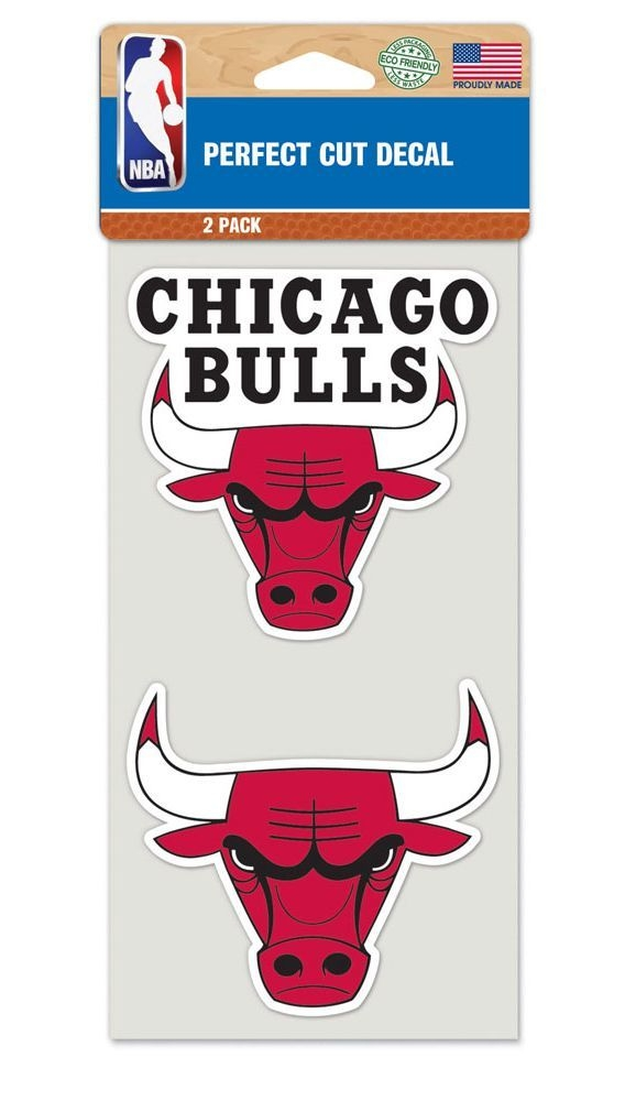 Chicago Bulls Decal 4x4 Die Cut Set Of 2 - 3208548312 - Nba Basketball Chicago Bulls Decals 3208548312