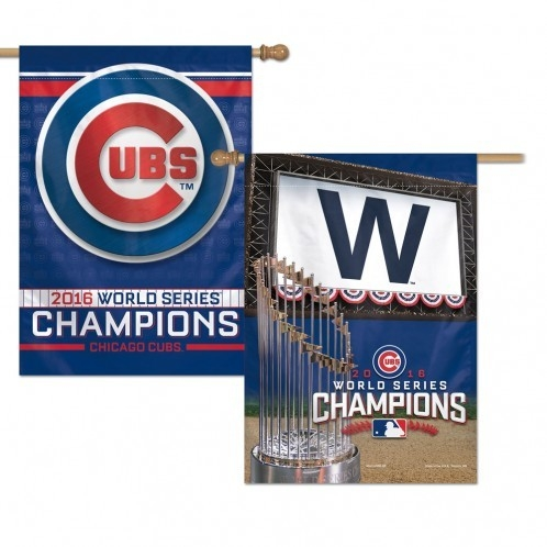 Chicago Cubs Banner 28x40 2 Sided 2016 World Series Champs - 3208599321 - Mlb Baseball Chicago Cubs Banners 3208599321
