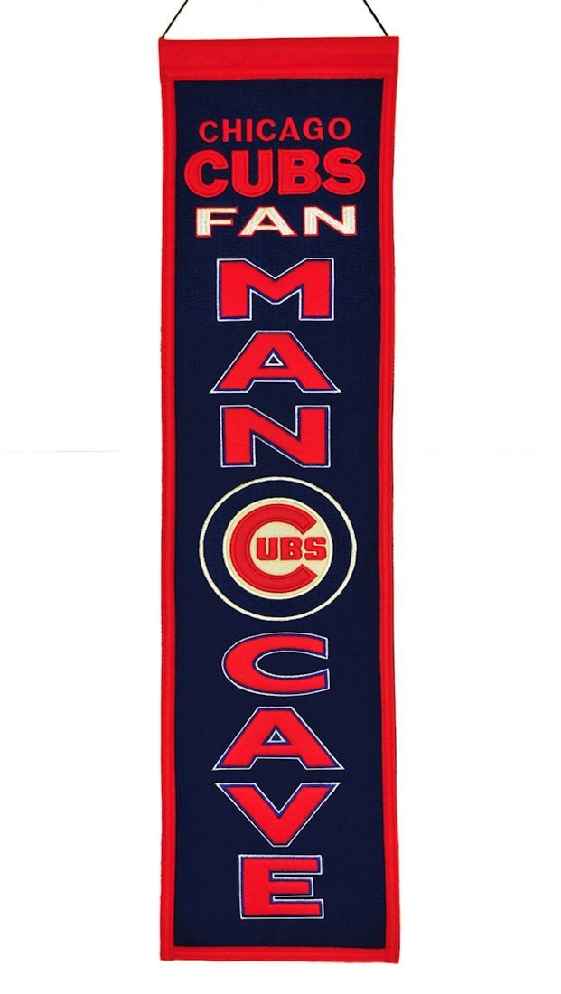 Mlb Baseball Chicago Cubs Banners - 7408849104 - Chicago Cubs Banner Wool Man Cave 7408849104