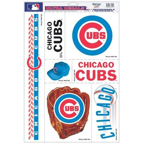 Chicago Cubs Decal 11x17 Ultra - 3208563101 - Mlb Baseball Chicago Cubs Decals 3208563101