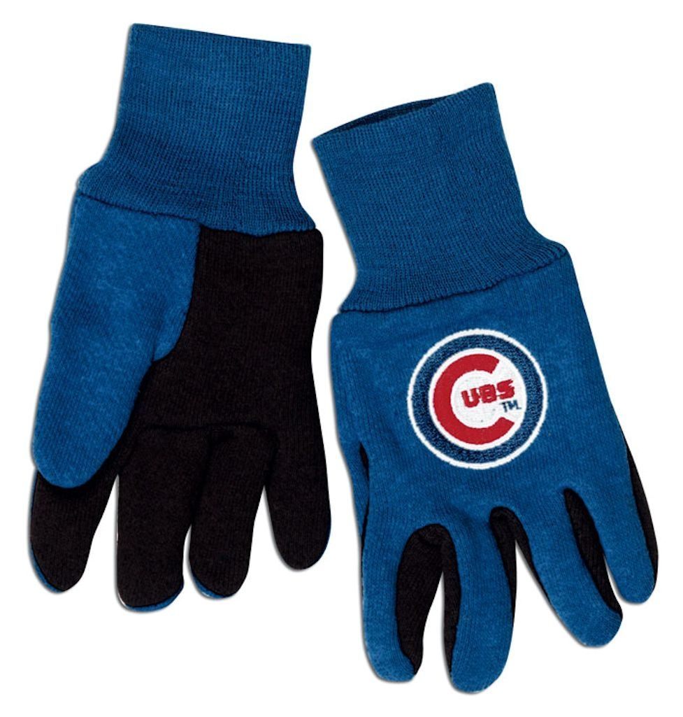 Chicago Cubs Two Tone Gloves-youth Size - 9960602941 - Mlb Baseball Chicago Cubs Gloves 9960602941