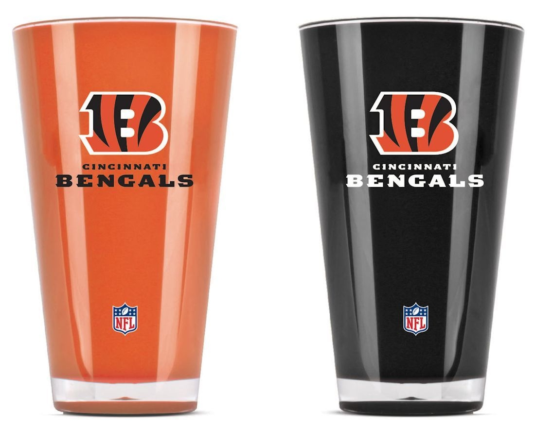 Cincinnati Bengals Tumblers-set Of 2 (20 Oz) - 9413101630 - Nfl Football Cincinnati Bengals Tumblers And Pint Glasses 9413101630