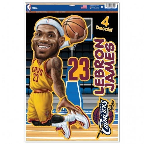 Cleveland Cavaliers Lebron James Caricature Decal 11x17 Multi Use - 3208518084 - Nba Basketball Cleveland Cavaliers Decals 3208518084