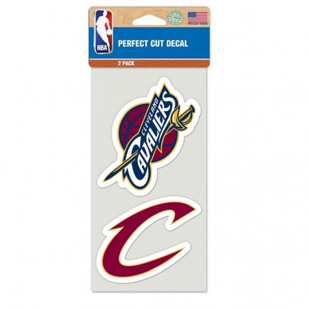 Cleveland Cavaliers Set Of 2 Die Cut Decals - 3208548701 - Nba Basketball Cleveland Cavaliers Decals 3208548701