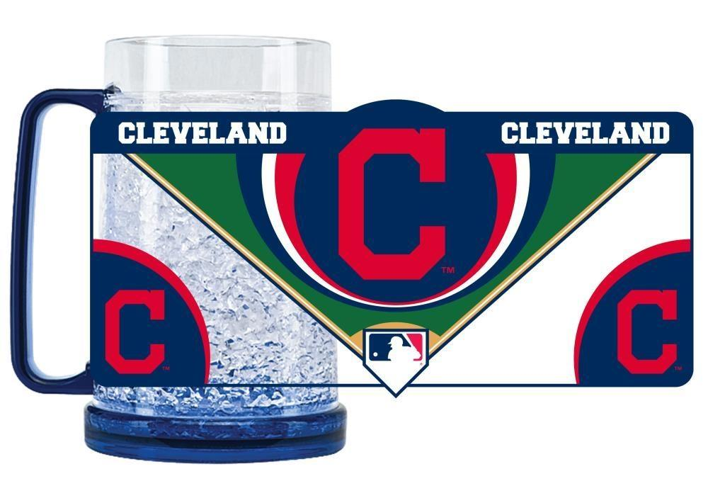 Cleveland Indians Mug Crystal Freezer Style - 9413159505 - Mlb Baseball Cleveland Indians Coffee Mugs 9413159505