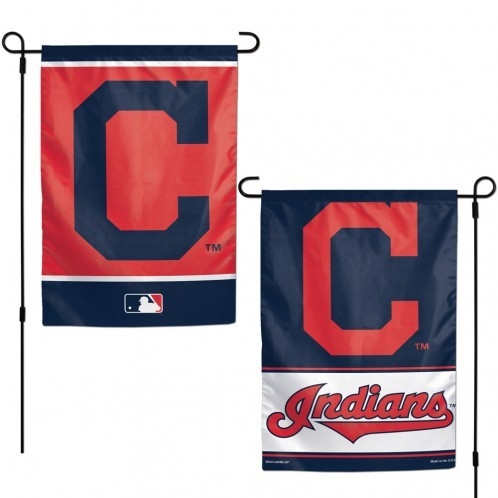 Mlb Baseball Cleveland Indians Garden Flags - 3208515949 - Cleveland Indians Flag 12x18 Garden Style 2 Sided 3208515949