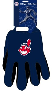Cleveland Indians Two Tone Gloves-adult Size - 9960694066 - Mlb Baseball Cleveland Indians Gloves 9960694066