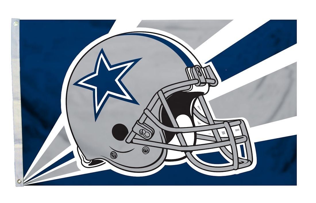 Dallas Cowboys Flag 3x5 Helmet Design - 2324594203 - Nfl Football Dallas Cowboys Helmets Masks 2324594203