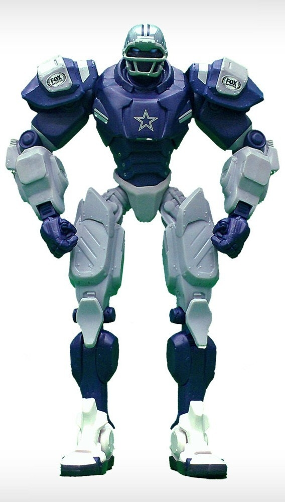 Dallas Cowboys Fox Sports Robot - 1263301717 - Nfl Football Dallas Cowboys Robots Figurines 1263301717