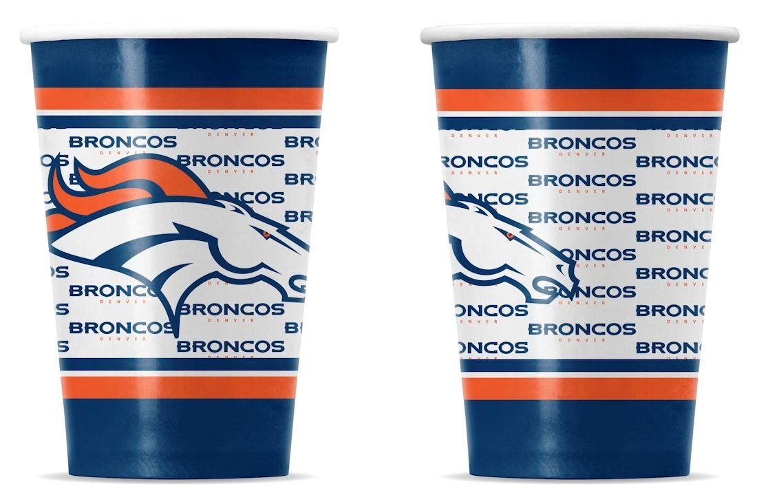 Denver Broncos Disposable Paper Cups - 9413106044 - Nfl Football Denver Broncos Bath 9413106044