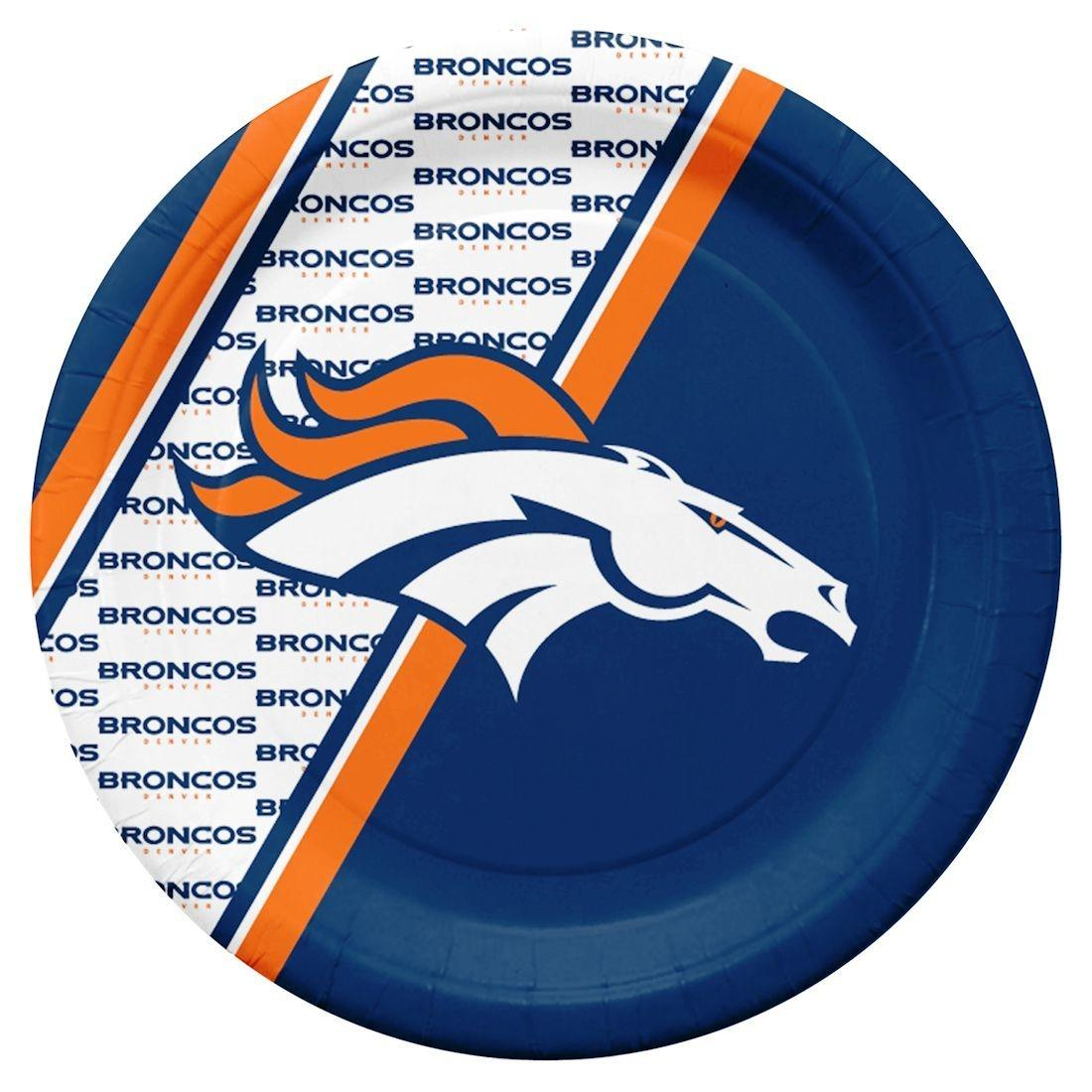 Denver Broncos Disposable Paper Plates - 9413106076 - Nfl Football Denver Broncos License Plates Frames 9413106076