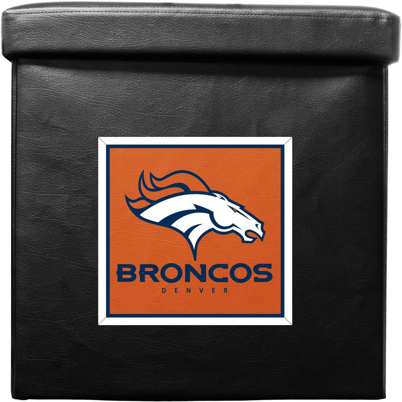 Denver Broncos Ottoman Foldable - 9413103025 - Nfl Football Denver Broncos Indoor Home Office Desk Accessories 9413103025