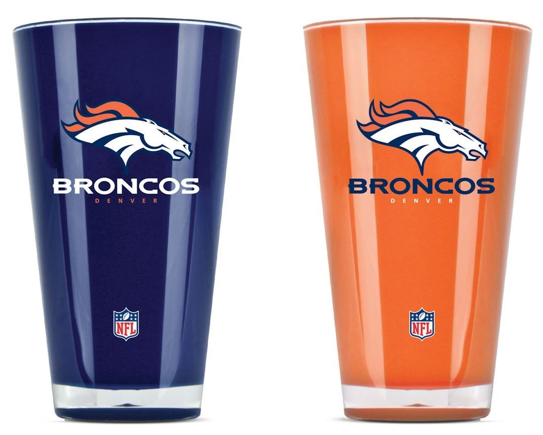 Denver Broncos Tumblers-set Of 2 (20 Oz) - 9413101597 - Nfl Football Denver Broncos Tumblers And Pint Glasses 9413101597