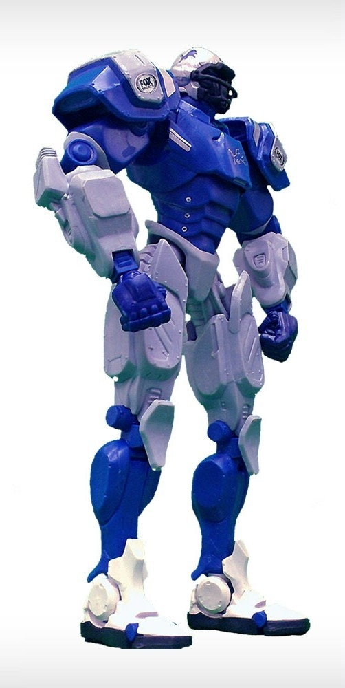 Detroit Lions Fox Sports Robot - 1263301721 - Nfl Football Detroit Lions Robots Figurines 1263301721