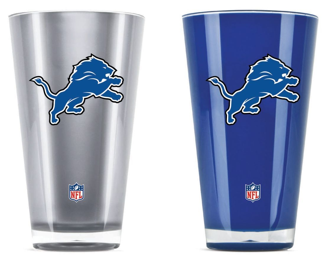 Nfl Football Detroit Lions Tumblers And Pint Glasses - 9413101632 - Detroit Lions Tumblers-set Of 2 (20 Oz) 9413101632