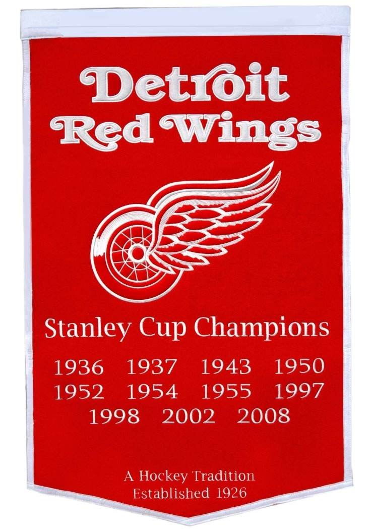Detroit Red Wings Banner 24x36 Wool Dynasty - 7408878000 - Nhl Hockey Detroit Red Wings Banners 7408878000