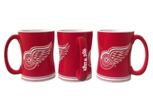 Detroit Red Wings Coffee Mug-14oz Sculpted Relief - 4675709841 - Nhl Hockey Detroit Red Wings Coffee Mugs 4675709841