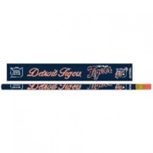 Detroit Tigers Pencil 6 Pack - 3208515595 - Mlb Baseball Detroit Tigers Indoor Home Office Desk Accessories 3208515595