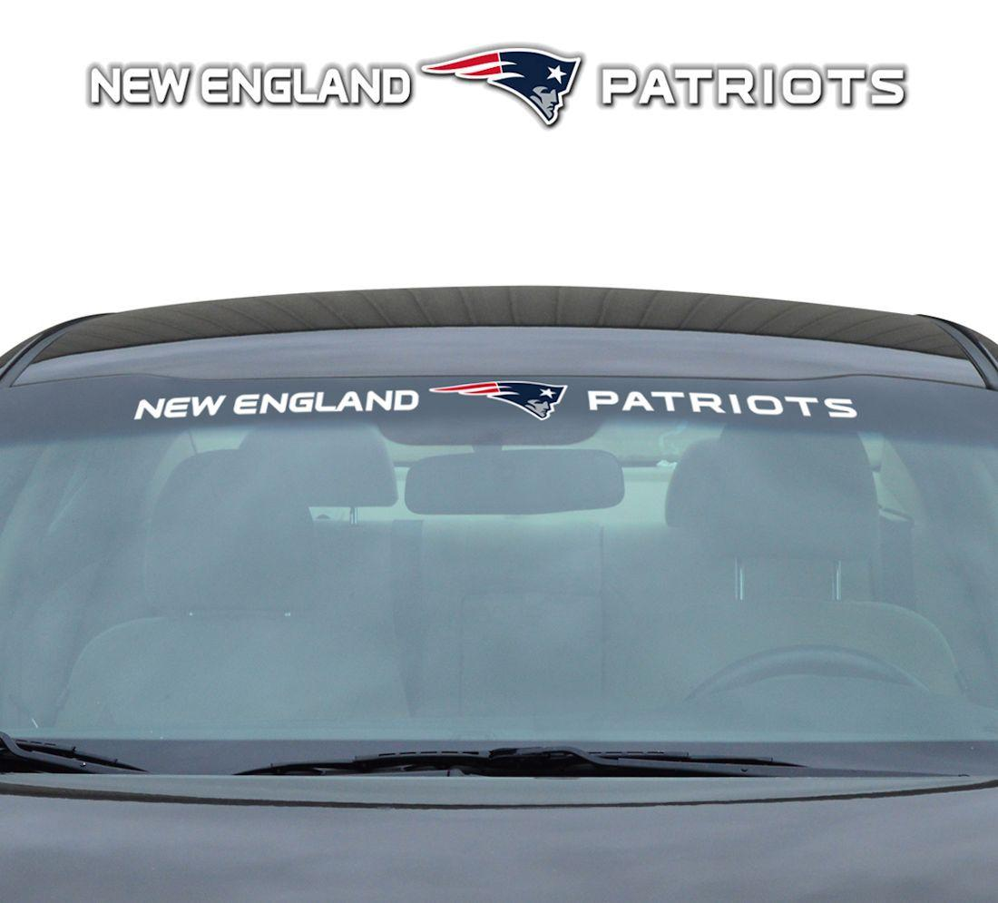 Nfl Football New England Patriots Decals - 8162080218 - New England Patriots Decal 35x4 Windshield 8162080218